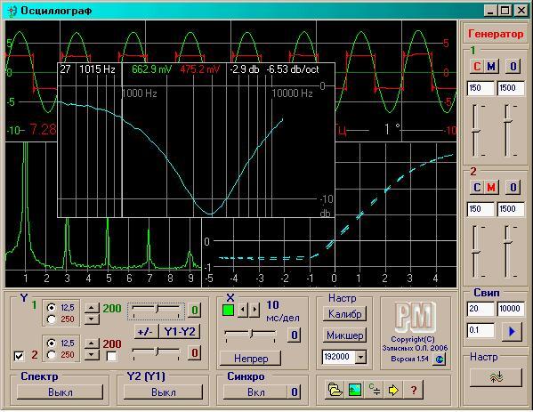 осциллографа из компьютера
