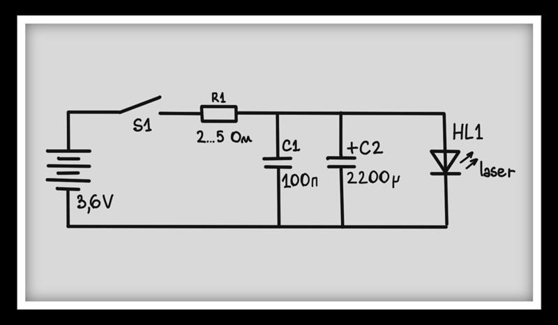 Схема лазера из дисковода