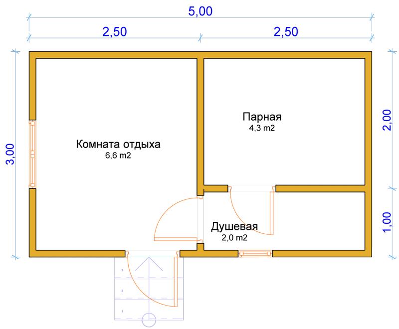 Баня на даче чертежи