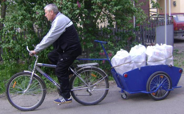 как сделать прицеп для велосипеда своими руками