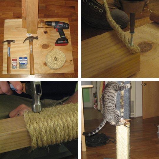 Как дома сделать когтеточку
