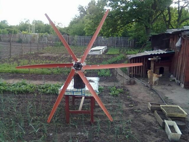 Самодельный ветряной генератор