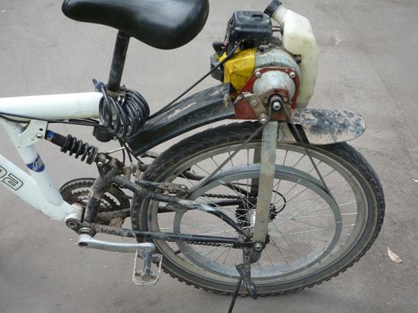 Сделать мопед из велосипеда в домашних условиях 873