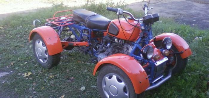 как сделать квадроцикл из мотоцикла днепр