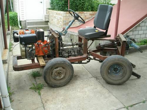 Самодельный мотоблок трактор переломка