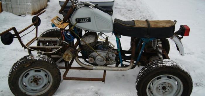 как сделать квадроцикл из