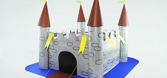 Замок из бумаги своими руками шаблоны