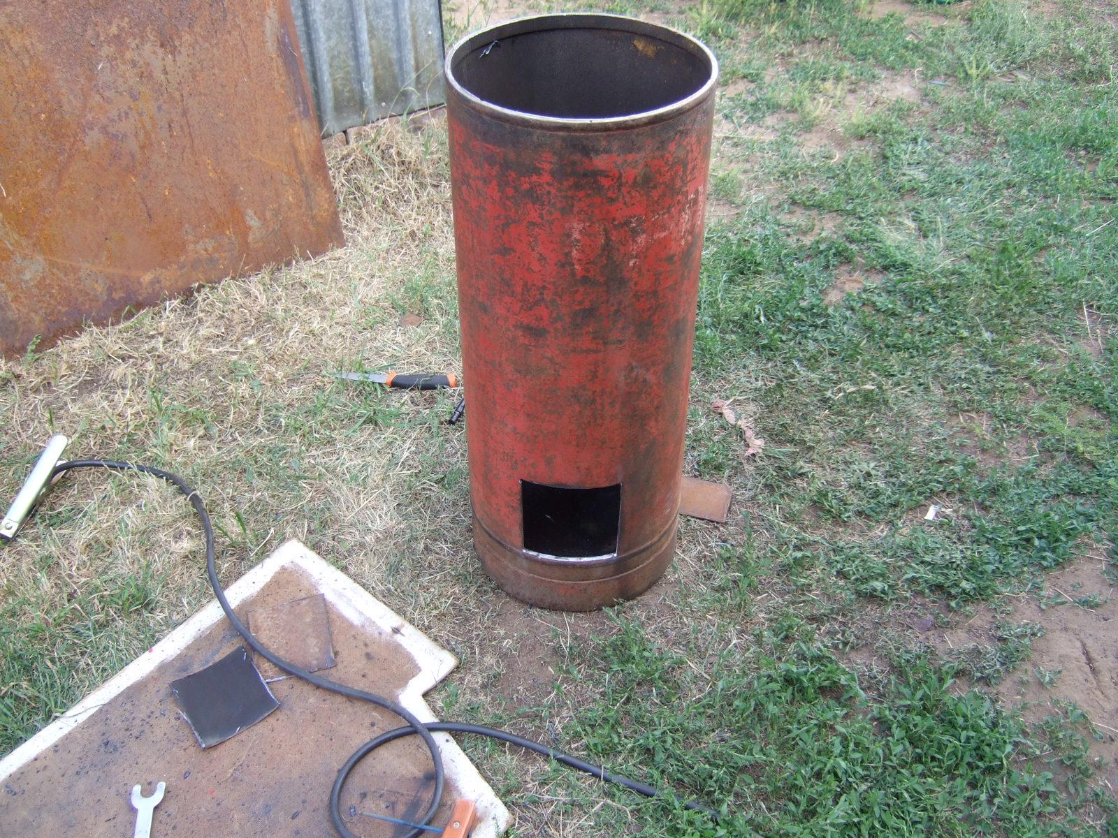 Печь бубафоня из газового баллона
