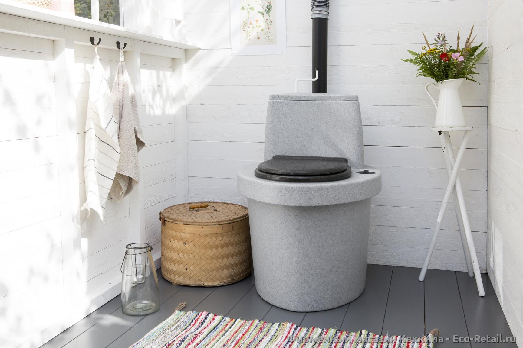 Как сделать садовый туалет своими руками