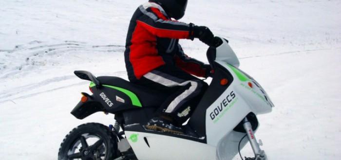 Снегоход из скутера