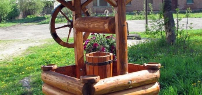 Как сделать декоративный колодец для сада своими руками