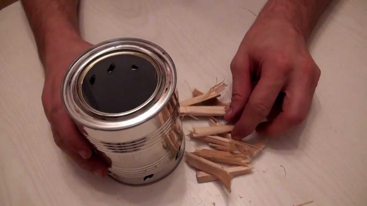 Пиролизная печь из консервных банок