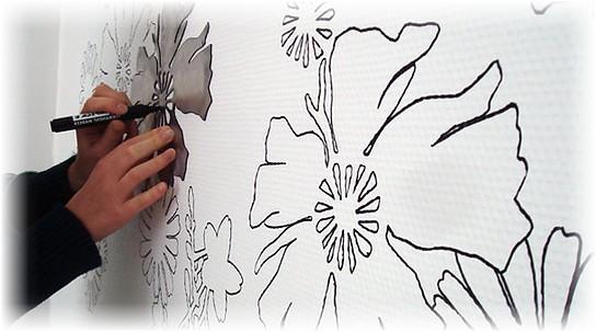Трафареты для росписи стены своими руками