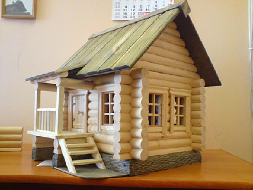 деревянный макет