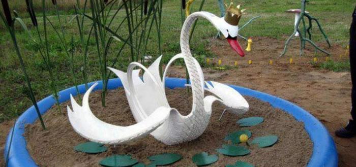 как сделать лебедя