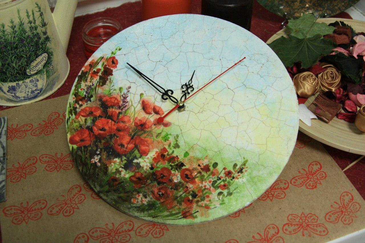 Декор настенных часов своими руками мастер класс