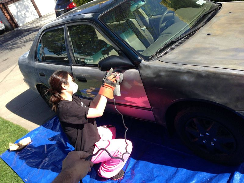 Как правильно красить автомобиль своими руками видео