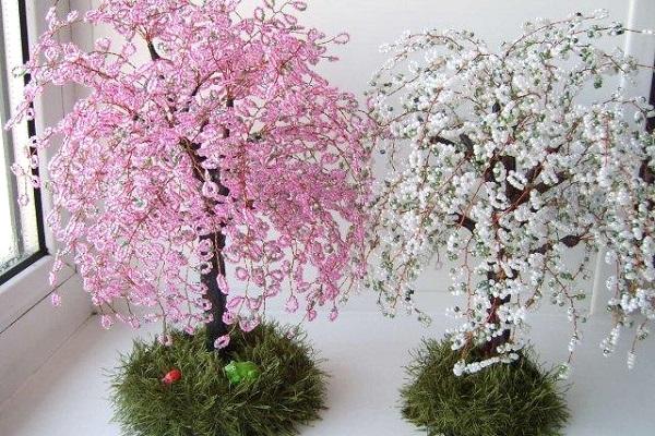 Сакура дерево своими руками видео