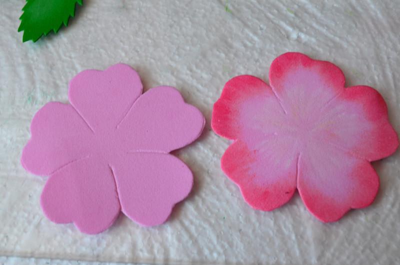Мастер-класс цветов из фоамирана
