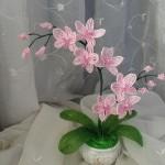 Орхидея из бисера: мастер-класс