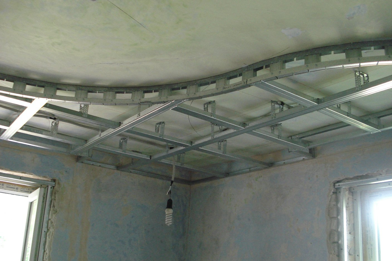 Подвесной потолки из гипсокартона своими руками