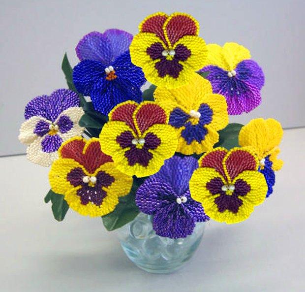 Бисероплетение: цветы – мастер-класс