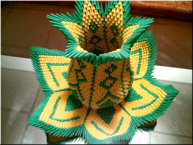 Оригами модульное вазы новые поделки