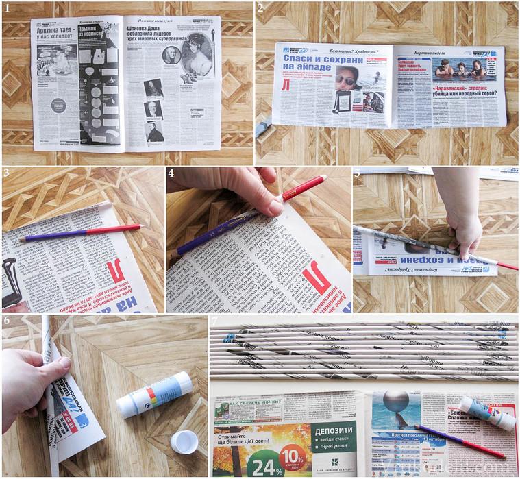 Газетное плетение мастер-класс